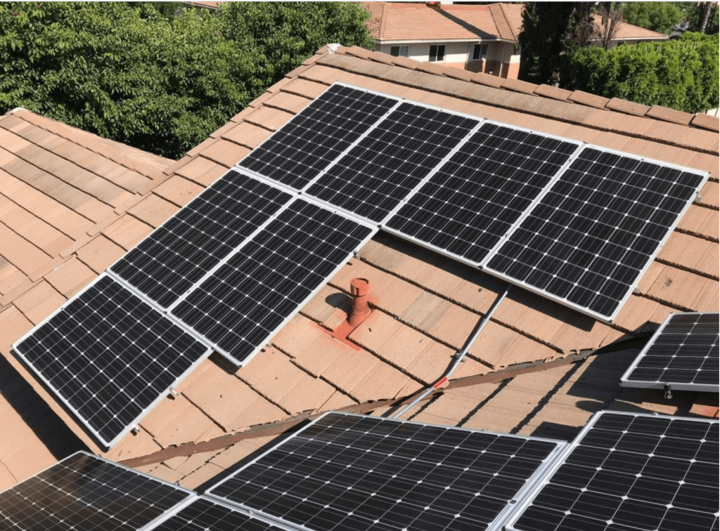 Solar Installation in Beverly Hills on Flat Tile