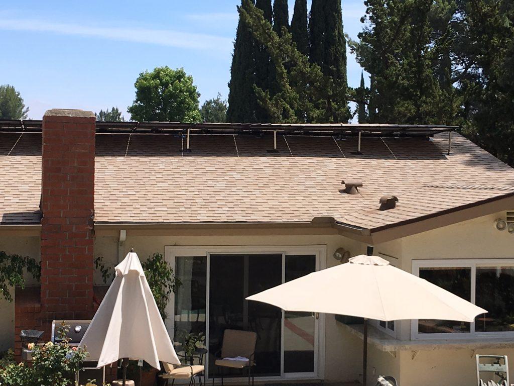 Reverse Mount Solar Installation in Topanga