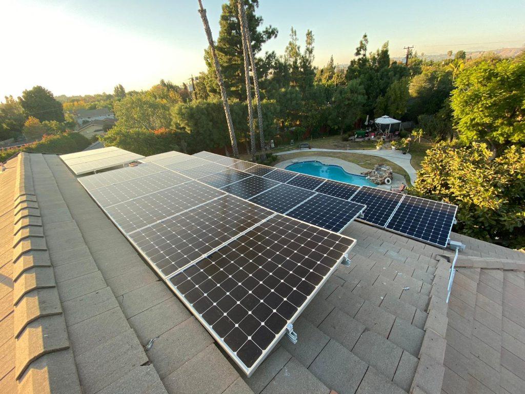 Reverse-Tilt Solar Installation in Sherman Oaks