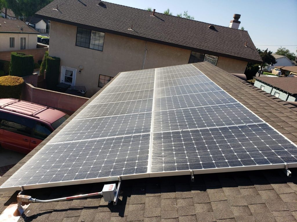 Solar Installation at Lawrence's House in Pasadena
